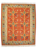 Kilim Rug: Tree with Wheels
