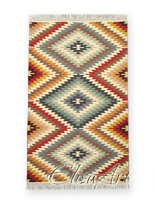 Handmade Kilim Rug: Bakamski