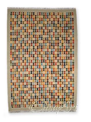 Handmade Kilim Rug: Makasi