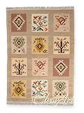 Handmade Kilim Rug: Boxes