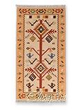 Handmade Kilim Rug: Tree with Wheels